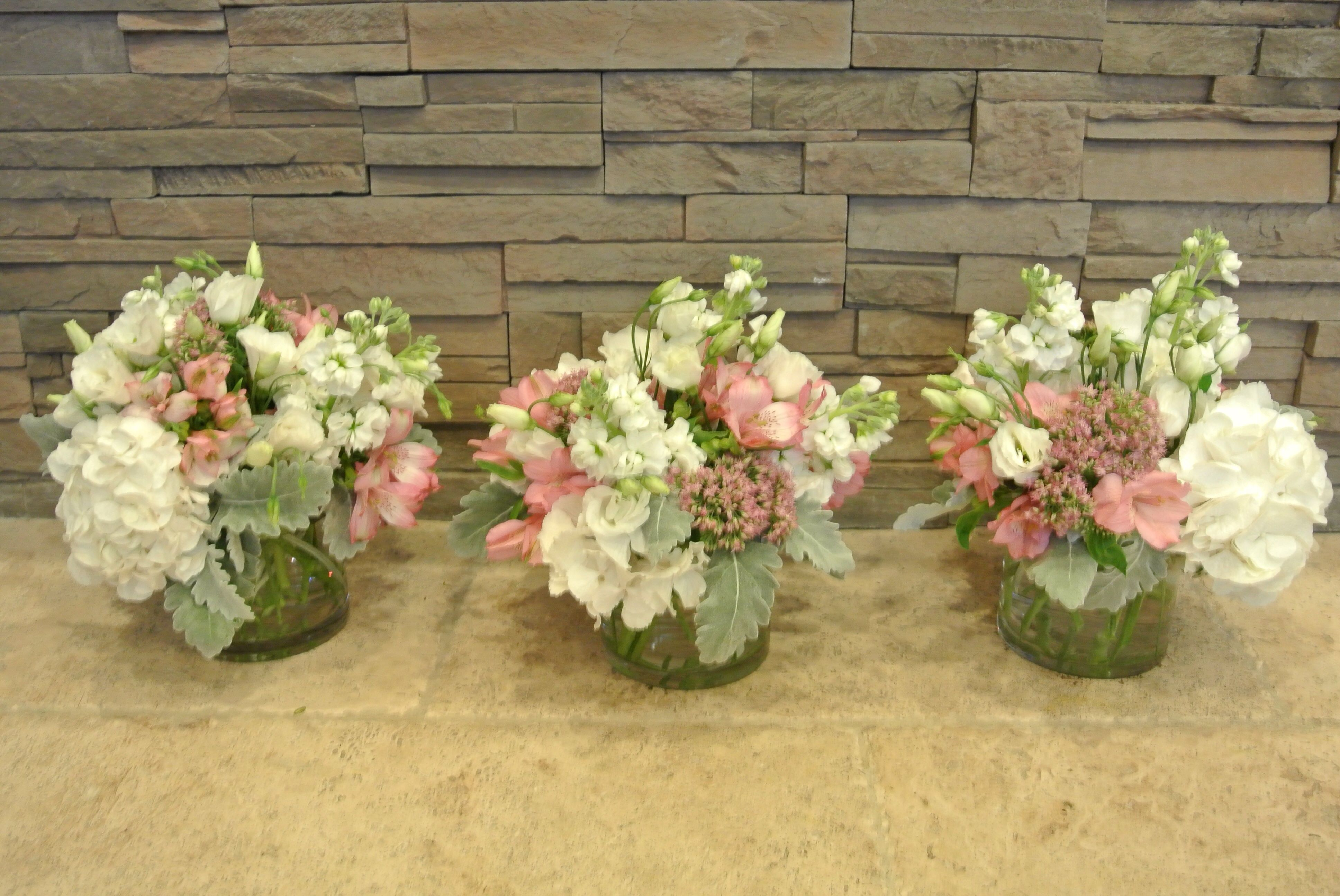 Pink and white hydrangea stock sedum lisianthus dusty miller pink and white hydrangea stock sedum lisianthus dusty miller altavistaventures Image collections