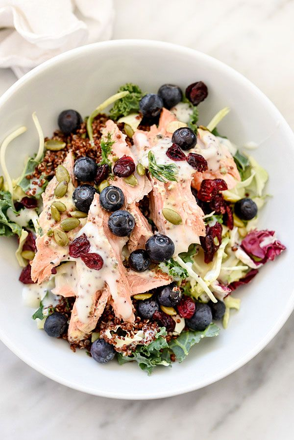 Superfood Salad with Poppy Seed Dressing | foodiecrush.com