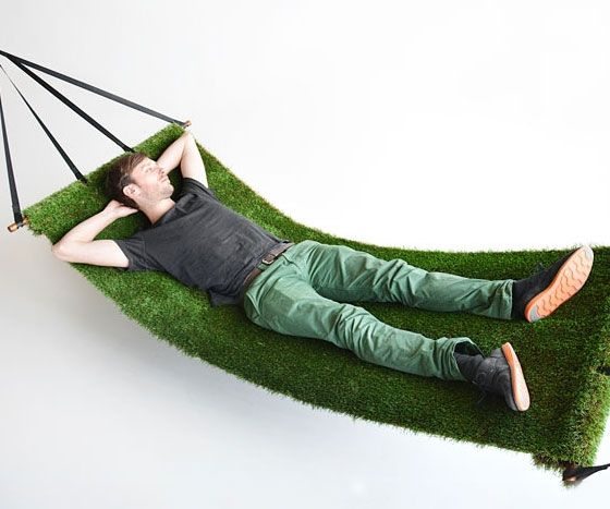 The grass hammock combines the relaxing feeling of laying on a field of grass while gently swaying to and fro for the ultimate R&R experience. Both UV and water resistant, you'll be able to enjoy this summertime activity year round.