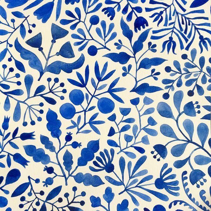 beautiful watercolor surface pattern design - Monika #surfacepatterndesign