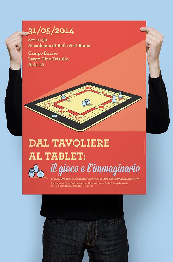 Poster per lecture con Spartaco Albertarelli on Behance Francesca Ceccarelli
