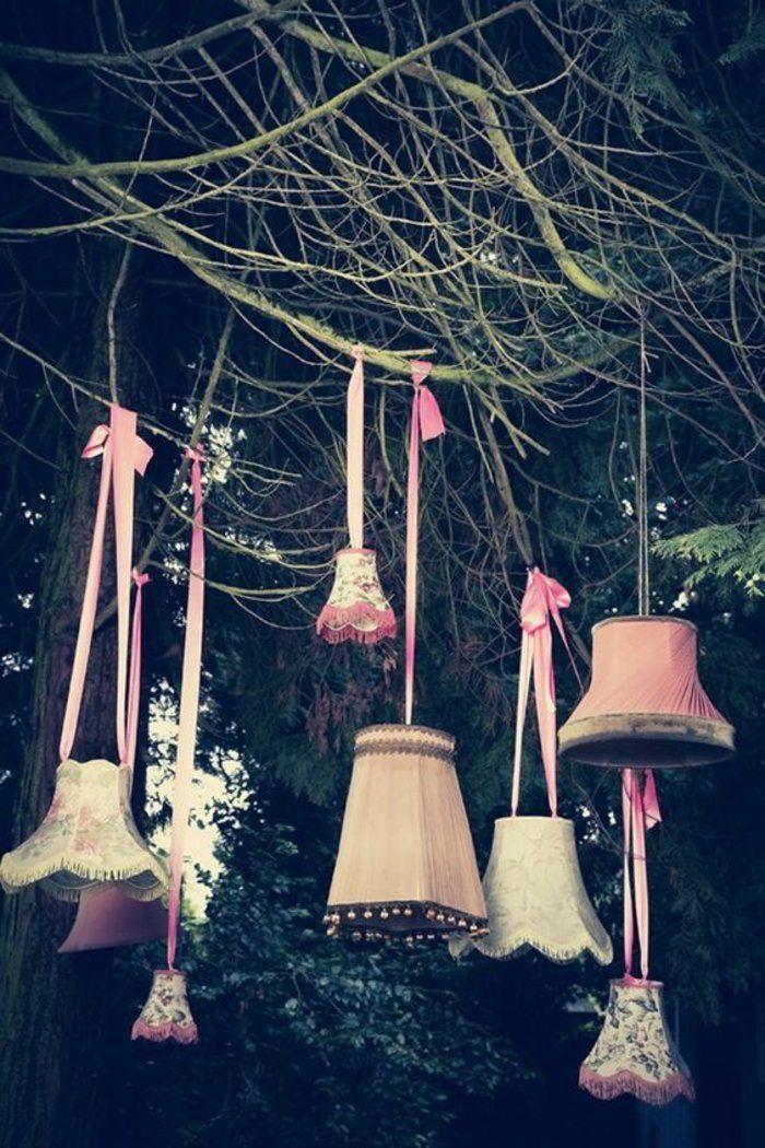 dekoideen gartenparty kreativ lampenschirme