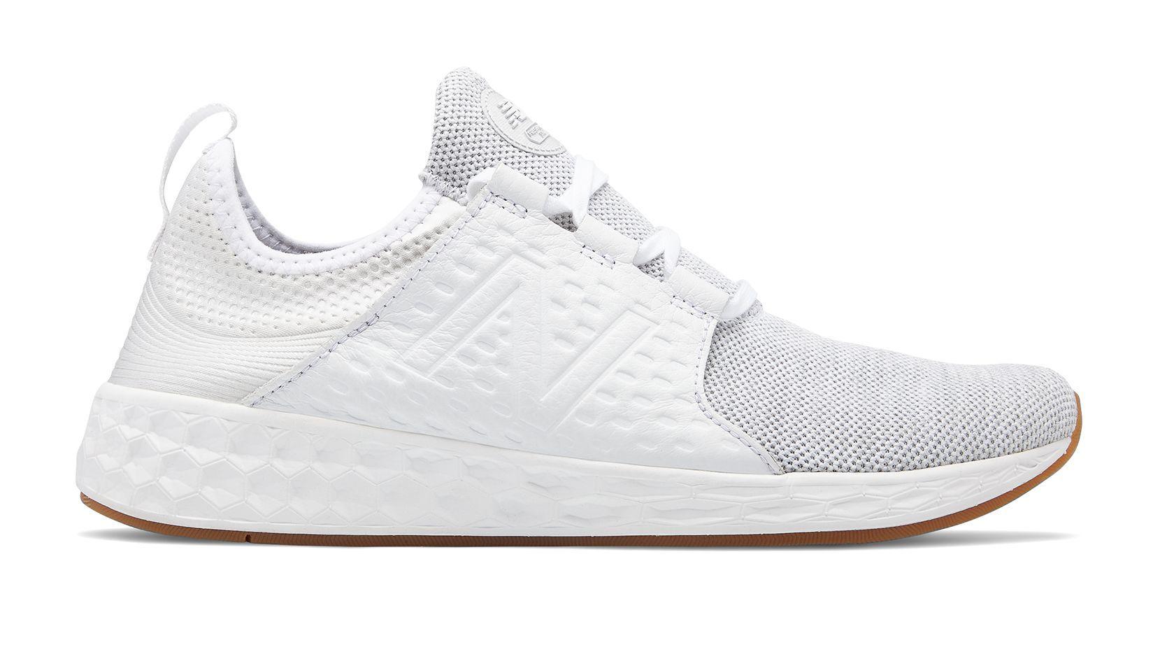 New Balance Fresh Foam Cruz, White Munsell with Silver