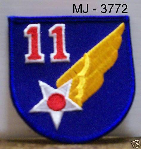 US Air Force 11th Air Force Embroidered Patch