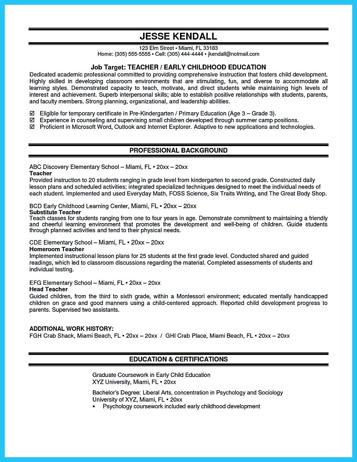 Actor Resume Sample Presents How You Will Make Your Professional Or Beginner Middle School Math Lesson Plans Math Lessons Middle School Teacher Resume Examples