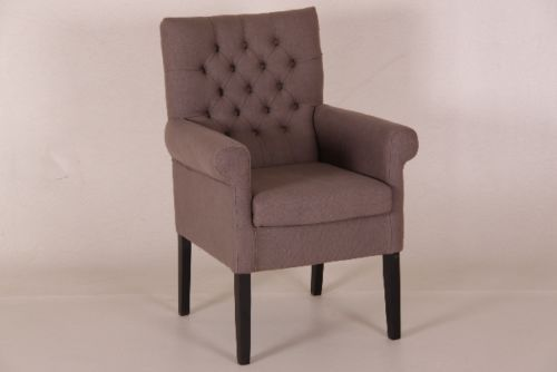 louisa armlehnstuhl 2 stueck stoff braun viele farben chesterfield gepolstert chairs pinterest. Black Bedroom Furniture Sets. Home Design Ideas