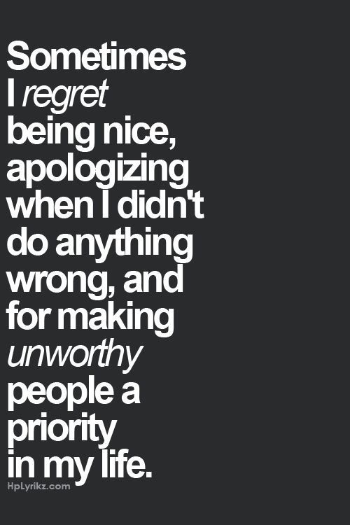 unworthy regrets