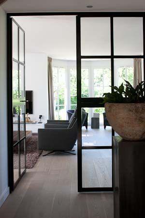 Woonkamer - deuren - Nieuw huis | Pinterest - Deuren, Staal en Atelier