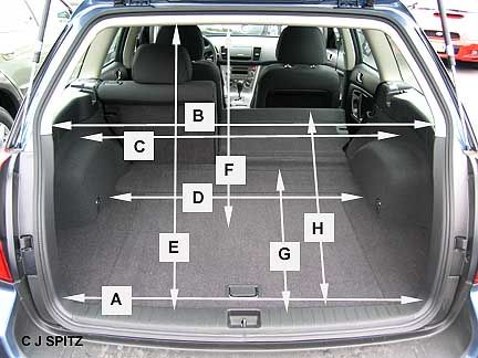 4th Gen Legacy Wagon Cargo Dimensions Hand Measurements A 39 Wide Lower Gate Opening B 43 Mid C 48 Top Of Wheel Wells D