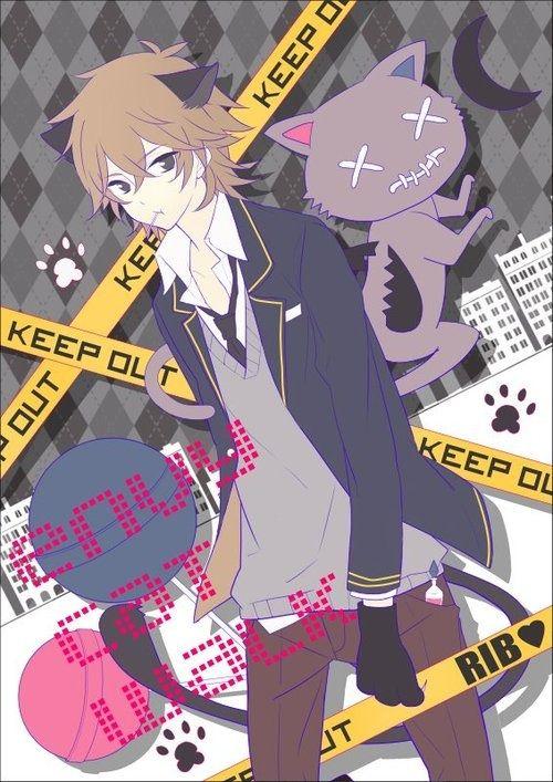 Anime Boy Guy Cat Ears Brown Hair