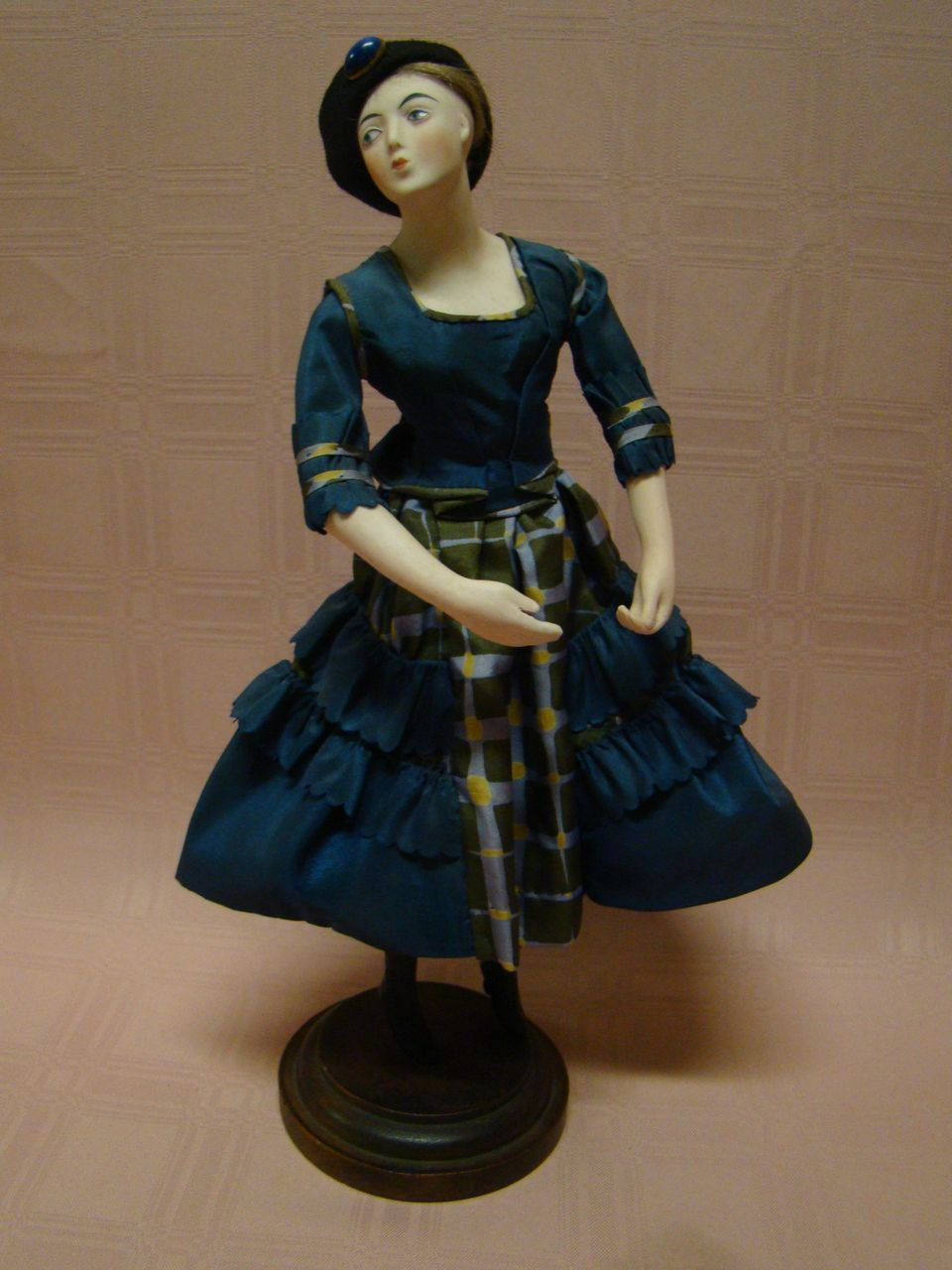 "French Pandora Doll, 1915-18; Original Clothing Tagged ""88 Vivandiere"""