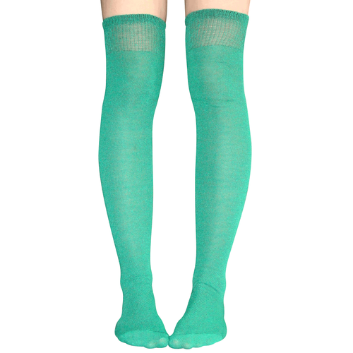 c8fa8a71c52 Athletic striped over the knee socks in green. Made in USA Chrissy s Socks  877-862-6267