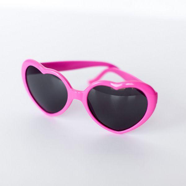 Heart Sunglasses - Dark Pink shoptomkat.com