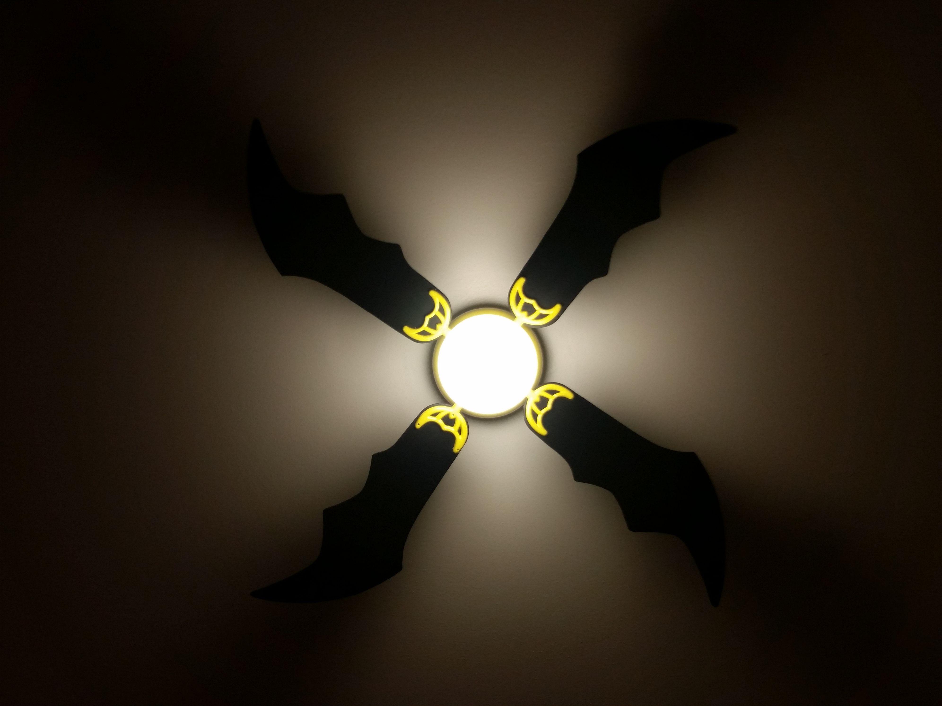 Batman ceiling fan with flash on. | Micah's Superhero Room ...