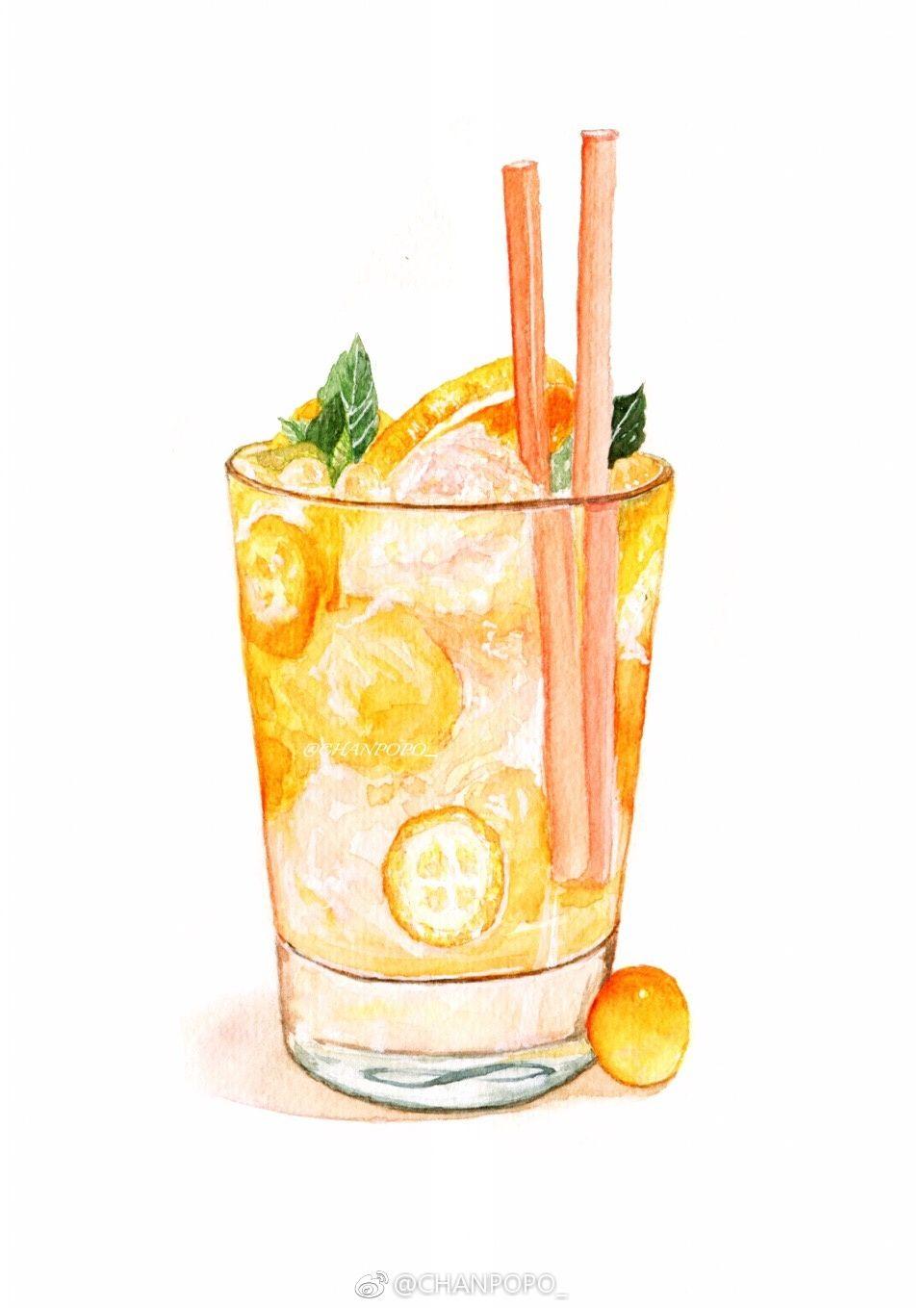 правильной рисунок лимонада акварелью именно