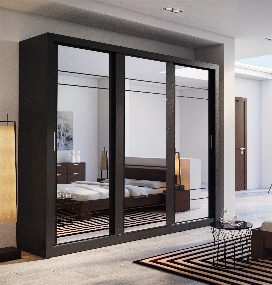 Brand New Modern Bedroom Sliding Door Mirror Wardrobe Arti