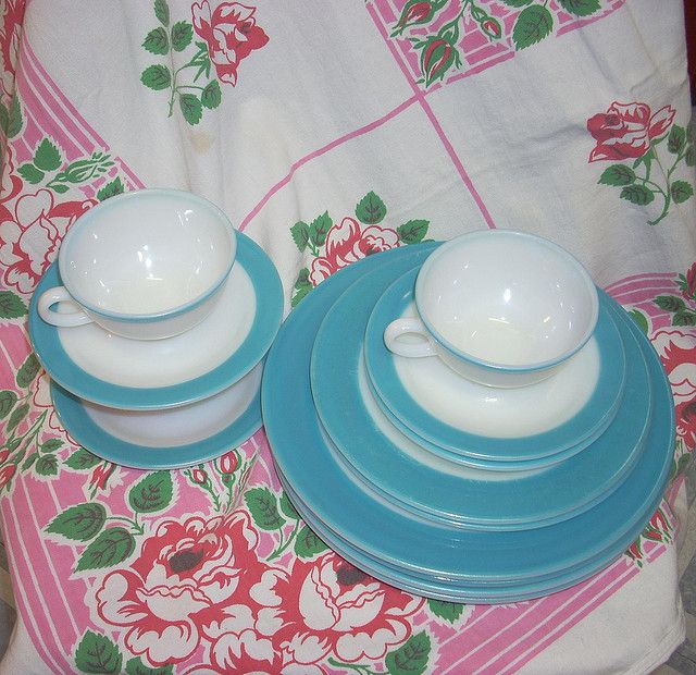 Vintage Dinnerware | Vintage Pyrex blue dishes | Flickr - Photo Sharing! : pyrex dinnerware - pezcame.com