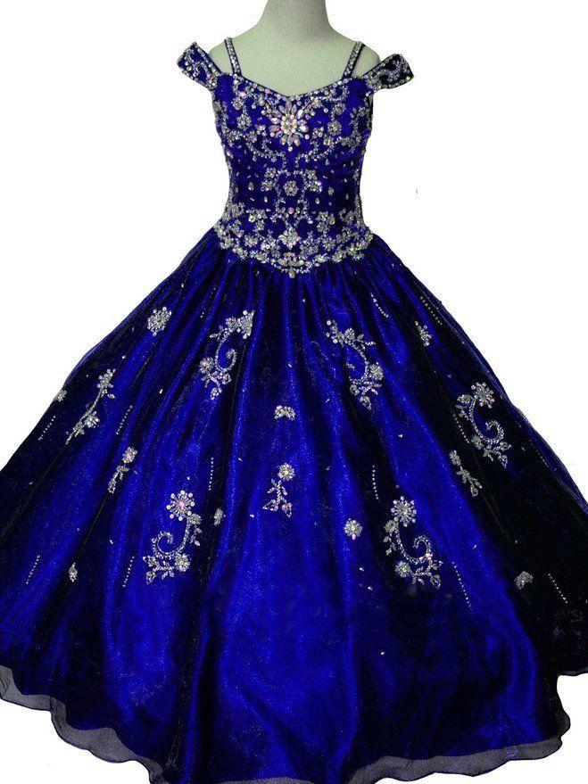 Custom Made Flower Girl Dress Pageant Party Dance Wedding Birthday