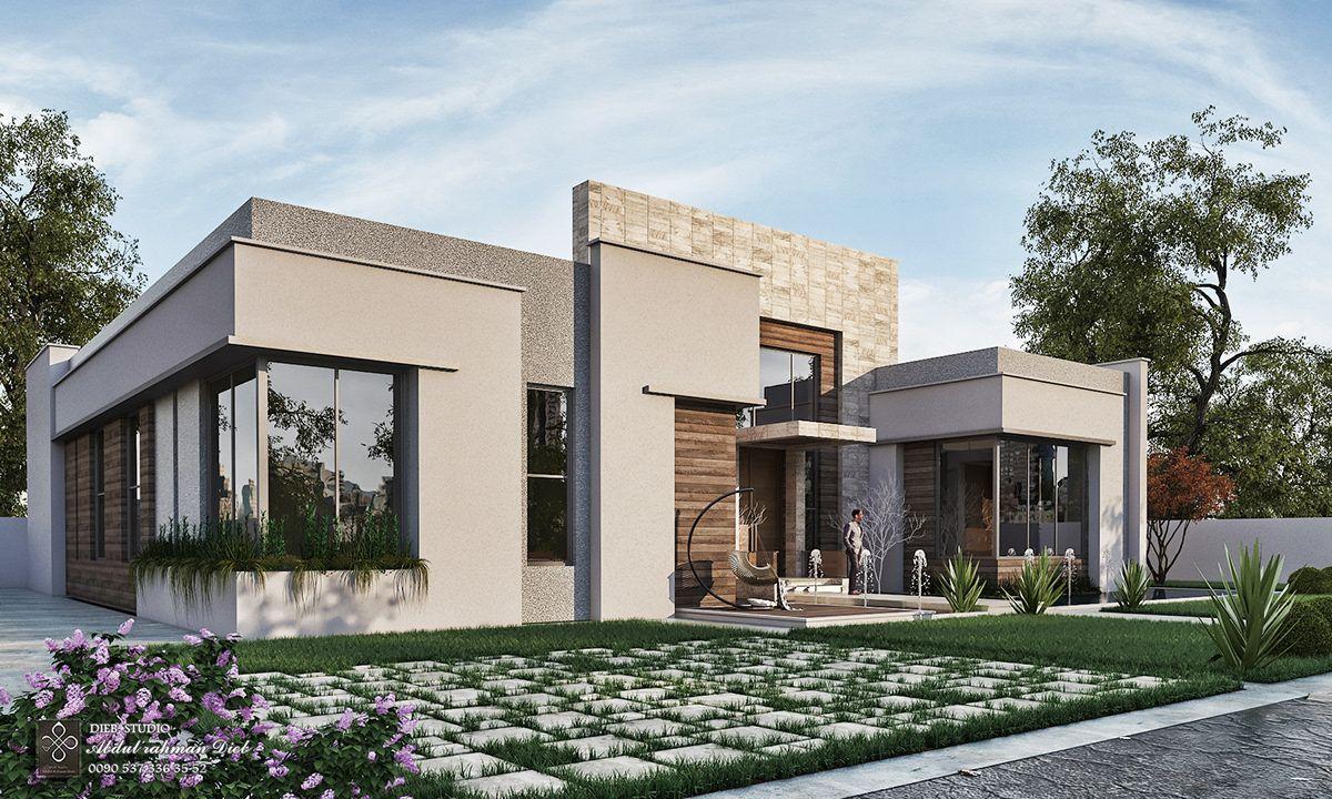 Simple Modern Villa On Behance Modern Architecture Building Modern Architecture Architecture