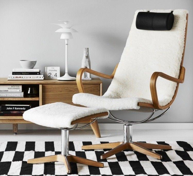 salon scandinave am nager et d corer en 45 photos. Black Bedroom Furniture Sets. Home Design Ideas