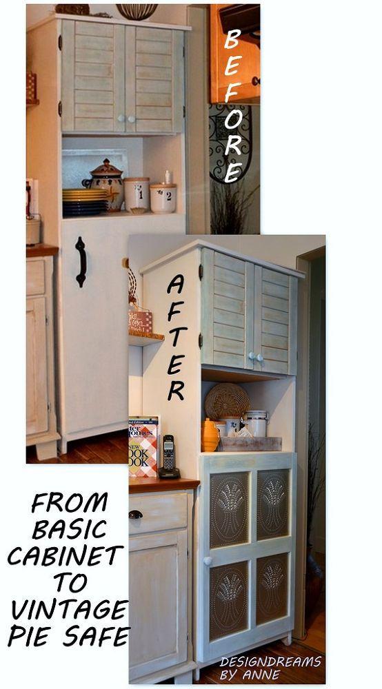 Dress Up A Plain Jane Cabinet With Pie Safe Tin Panels