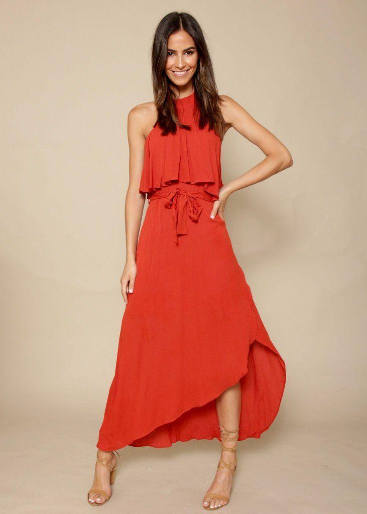 7305936abe Spring Fling Maxi Dress - Burnt Orange