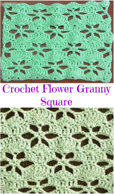 crochet flower granny square   crochet patterns   Pinterest ...