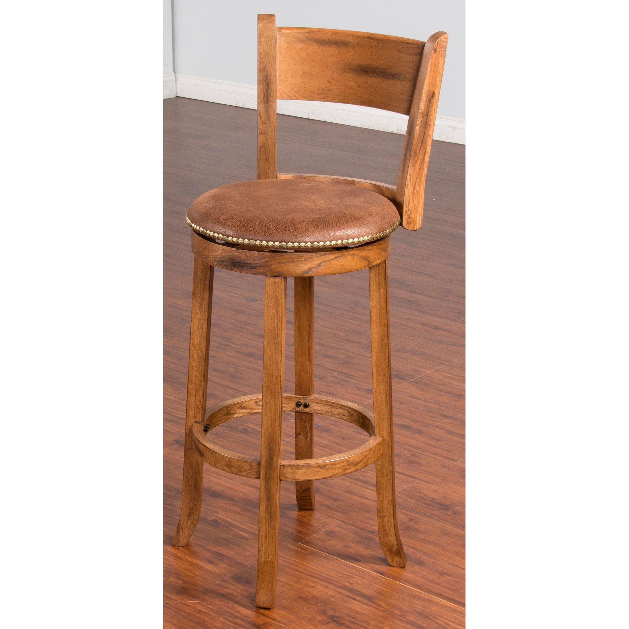 Sedona 30h Swivel Bar Stool With Back Rustic Furniture