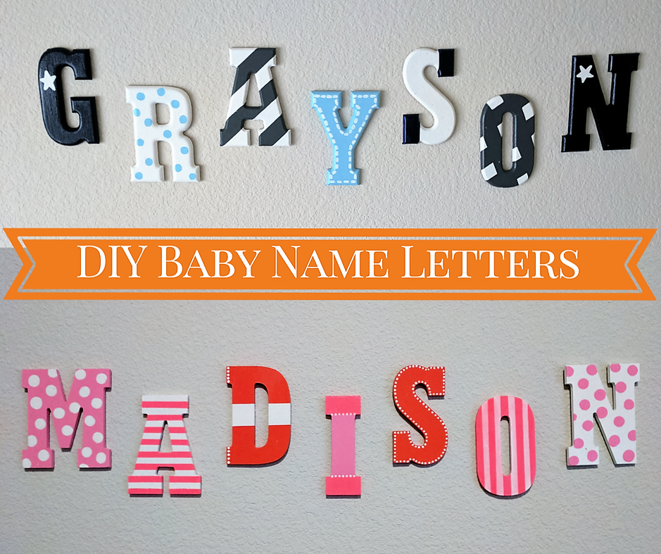 Name On Nursery Wall For Baby Boy Diy