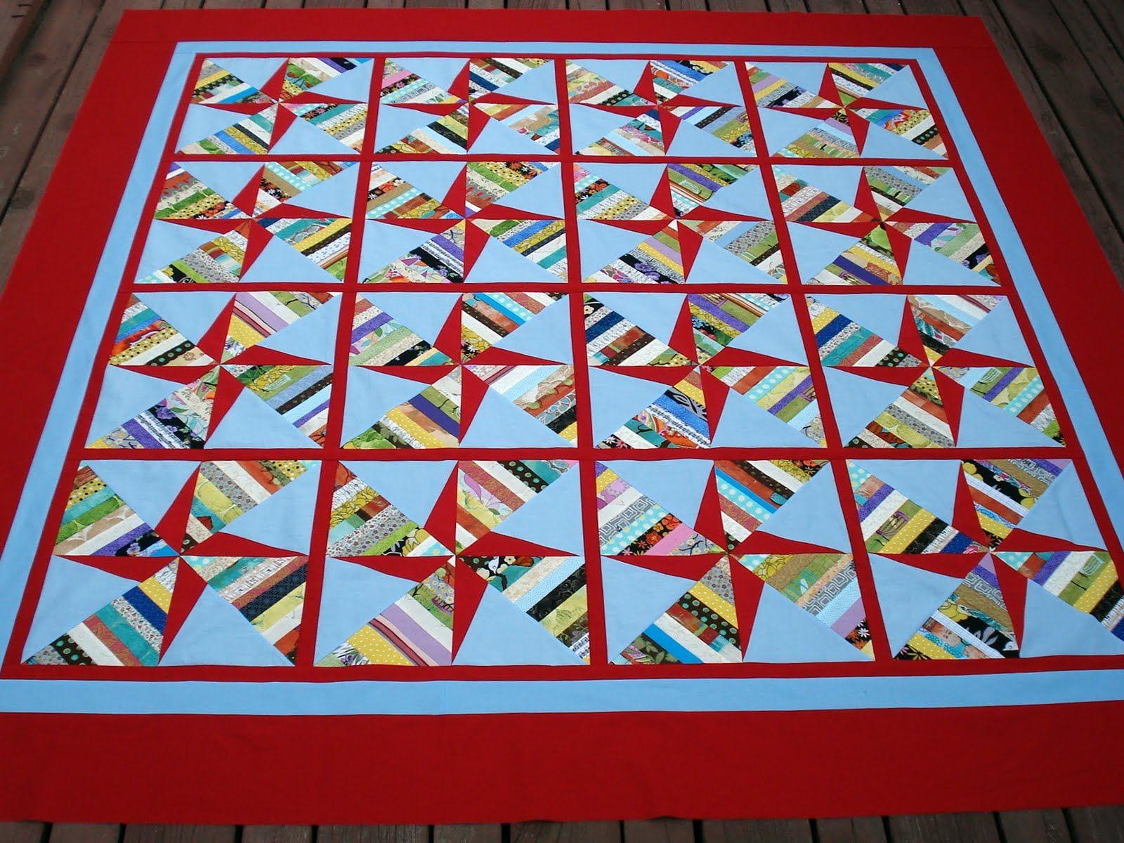 pinwheel quilts | Double Pinwheel String Quilt | Quilt ideas ... : double pinwheel quilt - Adamdwight.com