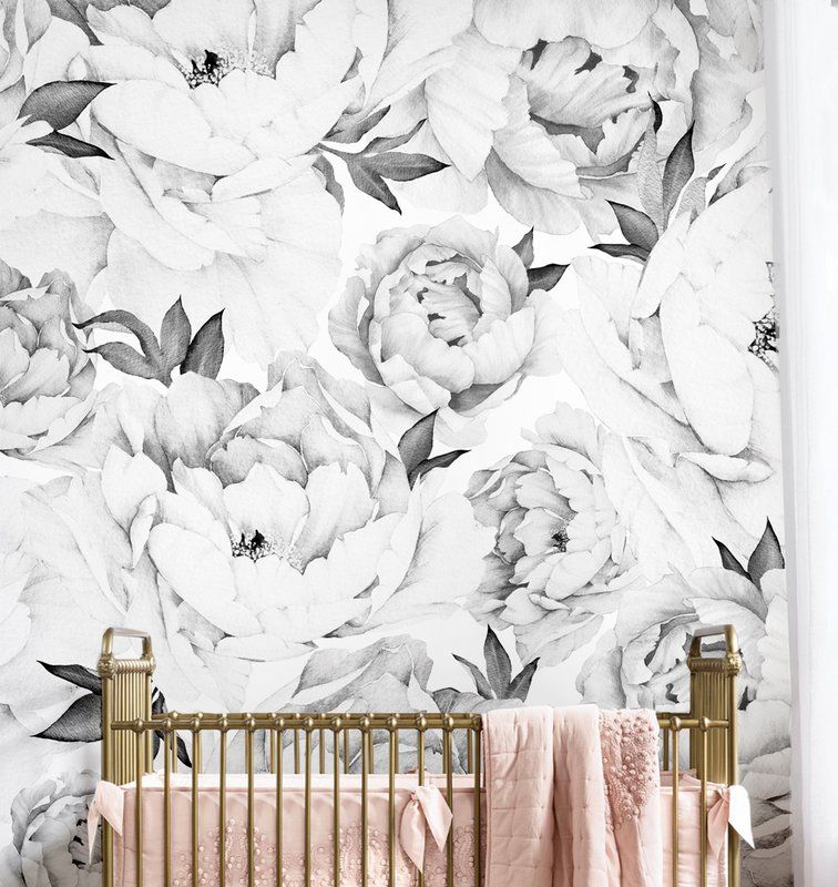 Entranceway Wallpapper Peony Wallpaper Flower Mural Wall Art Wallpaper
