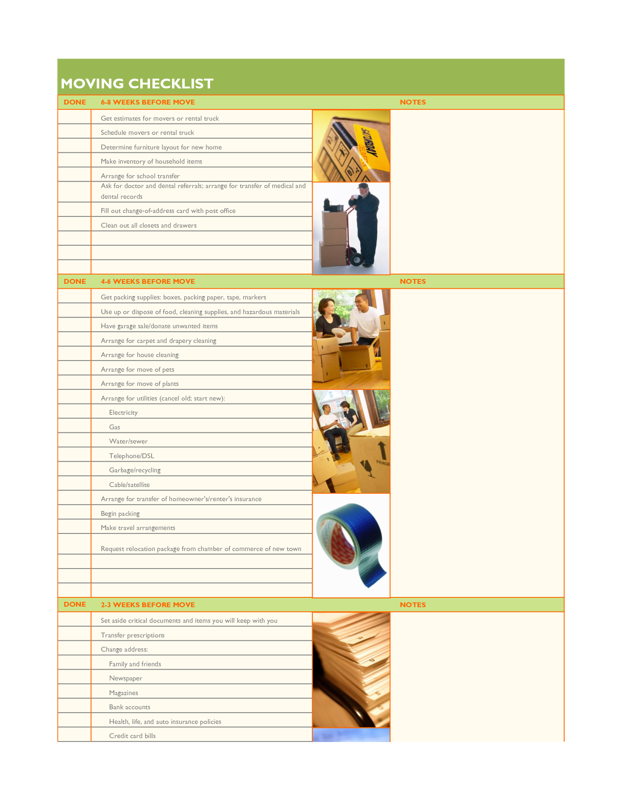 Moving Checklist Template Google Search Work Pinterest