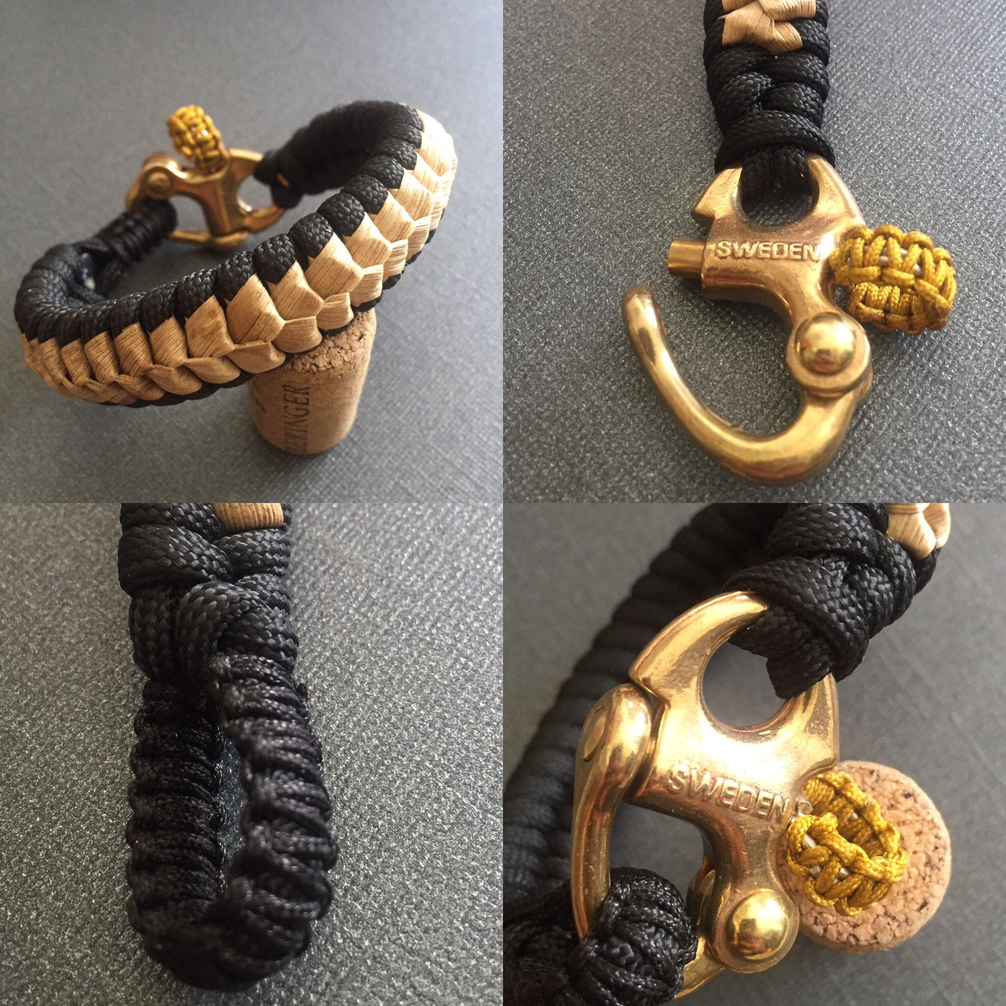 Brass Snap Shackle Paracord Bracelet