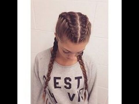 How To Make Two French Braids By Yourself Youtube Hair Braiding