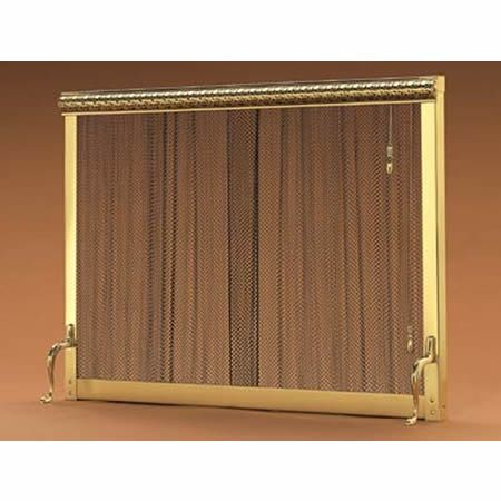 9116 Pull Chain Standing Curtain Fireplace Screen 38 X 30