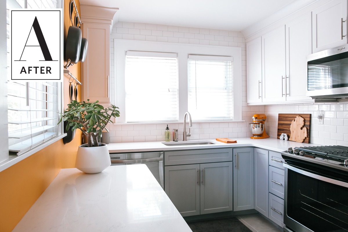 Before & After: Orange You Glad This Kitchen Got a Makeover ...
