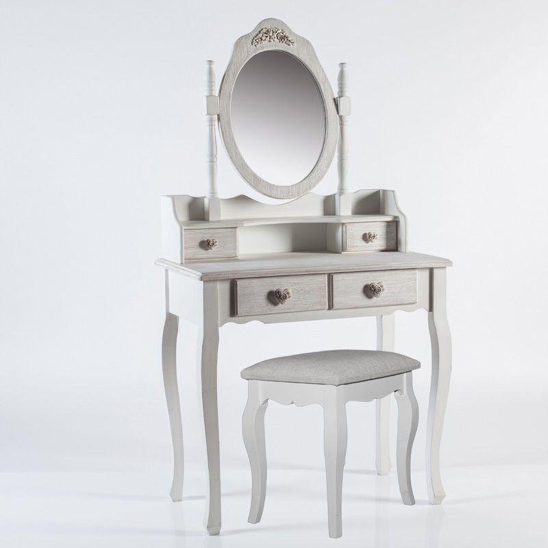 Consolle con specchio in legno stile shabby chic provenzale atmosphera home decor decor e - Toletta da camera ...