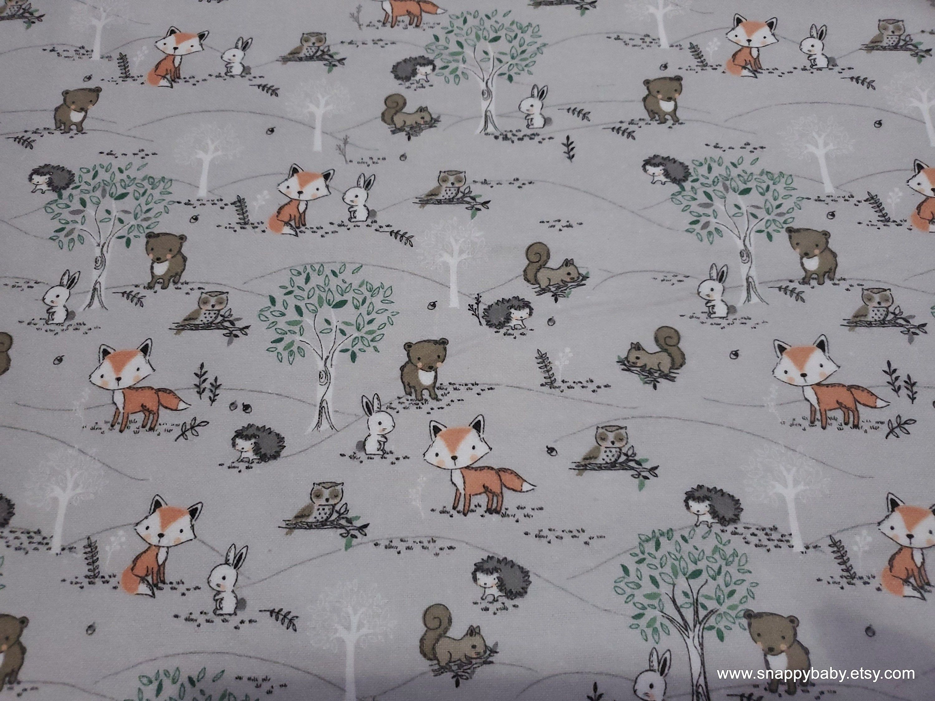 Flannel Fabric Baby Forest Animal Friends By The Yard 100 Cotton Flannel Flannel Fabric Cotton Flannel Fabric