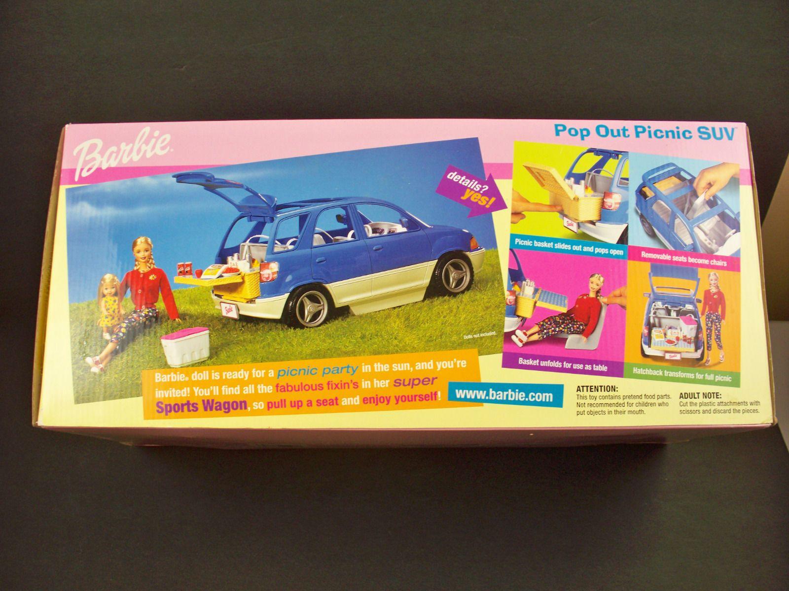 Nib Barbie Doll 1989 Pop Out Picnic Camping Suv Hatchback Car Van W Accessories Hatchback Cars Barbie Barbie Dolls [ 1200 x 1600 Pixel ]
