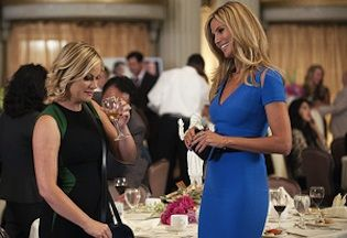 """With just two weeks to go before the Sept. 26 premiere of """"Parks and Recreation,"""" NBC has finally released the first look at Season 6 -- including a glance at big time guest star Heidi Klum,"""