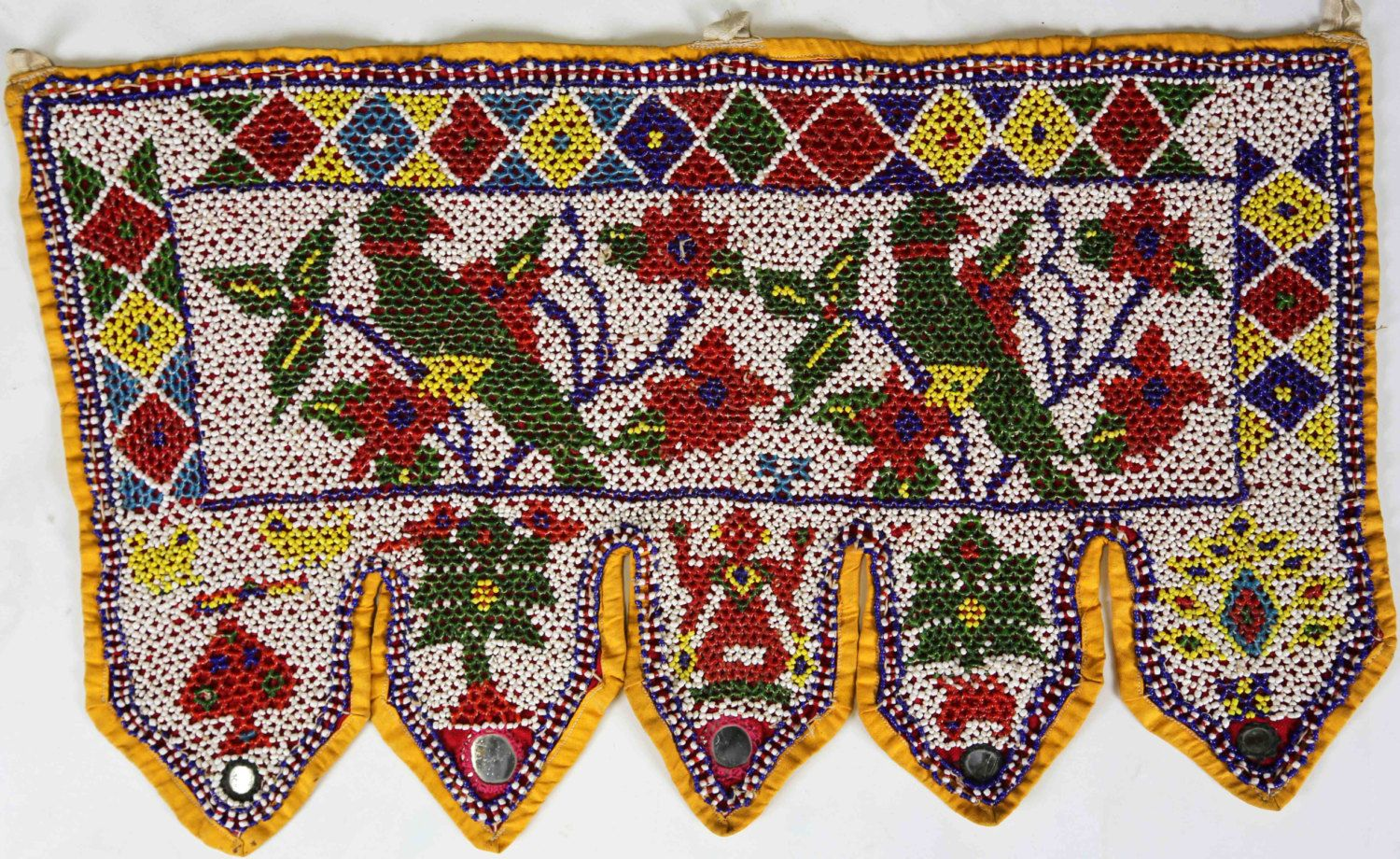 Rabari Toran Wall Hanging Colorful Beaded Tribal Valence Antique Kutch by  Wanderloot on Etsy