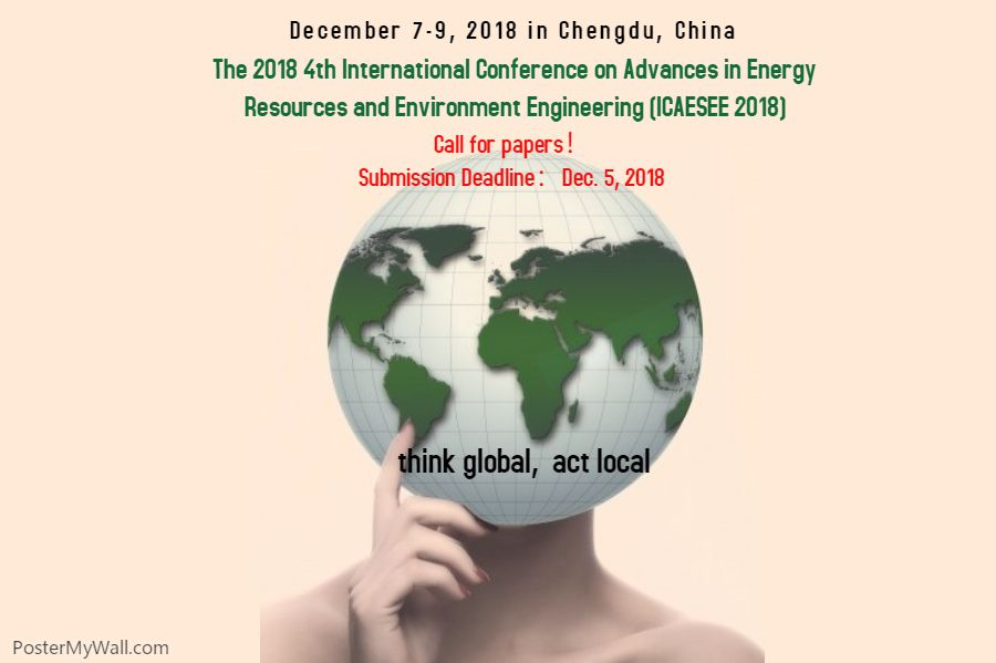 The 2018 4th International Conference On Advances In Energy