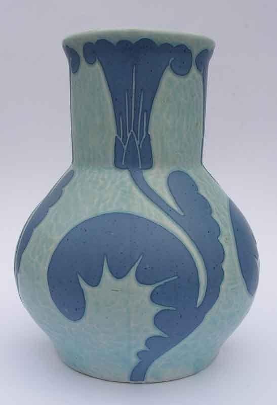 Art deco sgrafitto vase designed by Josef Ekberg (1877-1945) for Gustavsberg