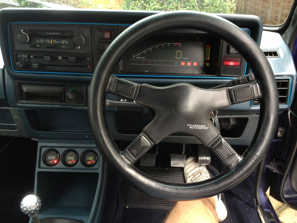 Interior Mk1 Golf Gti Mk2 Vw Motorsport Inspired With G60 Engine Digifiz Dash And Matching Gauges Mk1 Vw Motorsport Golf