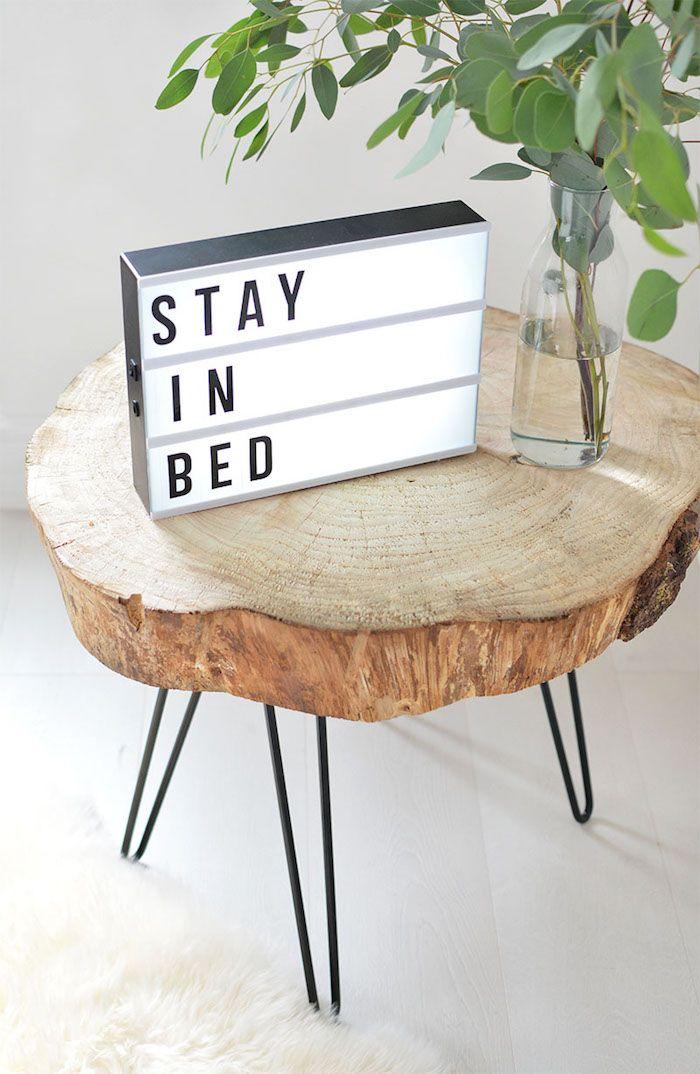 table en rondin de bois un tronc peut en cach un autre - Rondin De Bois Deco