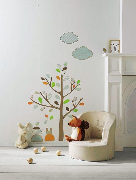 Baumsticker f r kinderzimmer braun wall decor for Kinderzimmer braun
