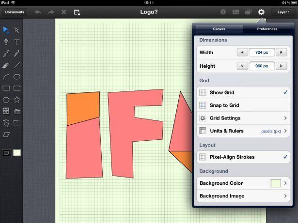 App vettoriale per iPad