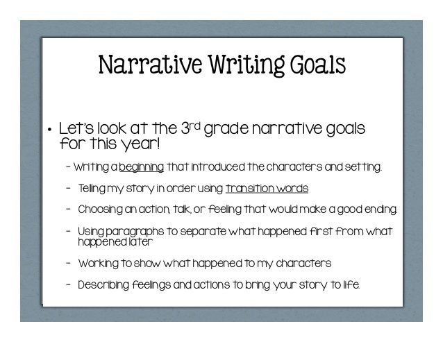 Narrative Writing Goal Let S Look At The 3rd Grade For Thi Year Writin Prompt Funny Kids Purpose Of A Essay