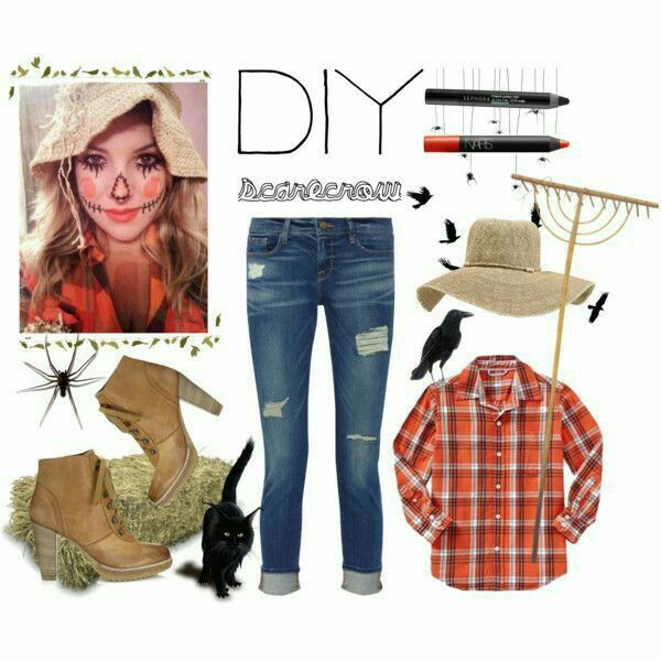 DIY Scarecrow Halloween Costume Halloween for Audrey Pinterest - quick halloween costumes ideas