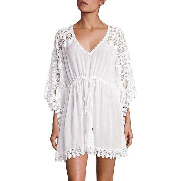 Melissa Odabash Crochet Inset Kaftan (€240) ❤ liked on Polyvore ...